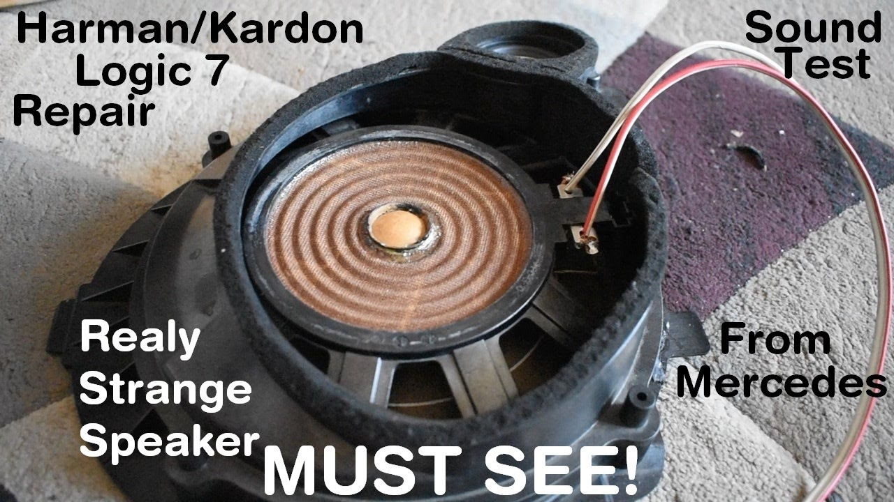 hight resolution of harman kardon logic7 speaker repair and sound test