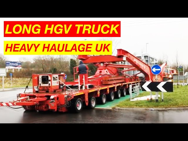 Truck Transporting Heavy Goods in Britain
