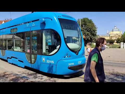 Trams Trains and Buses of Zagreb 2021 Public Transport Funicular Tramvaj Trolley Cable Car 4K