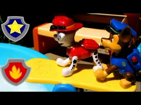 """PAW Patrol 🐾 Chase & Marshall in """"The Bubble Diving Competition"""" 