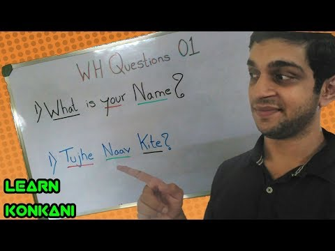Learn Konkani through English #Wh Questions 01
