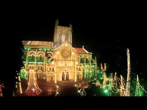 All Saints Cathedral - beautifully lit up on Christmas day, Allahabad.
