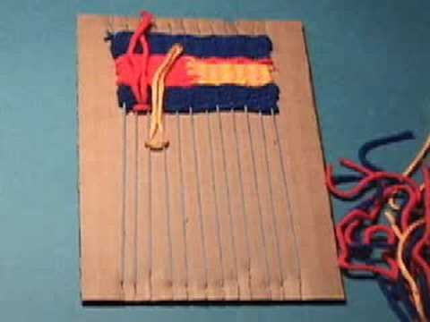 Weaving On A Cardboard Loom Youtube