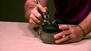 airbrush cleaning pot instructions