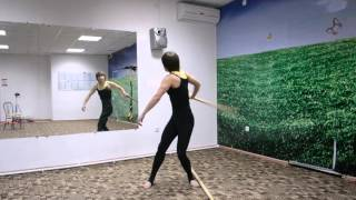 Суставная гимнастика. Работа с палкой -  2.