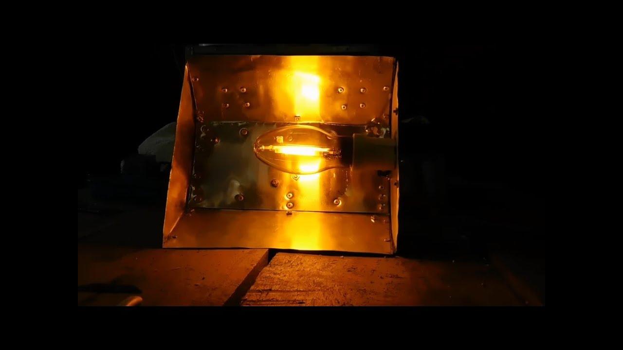 70 watt hps lamp test and 600 watt ballast box