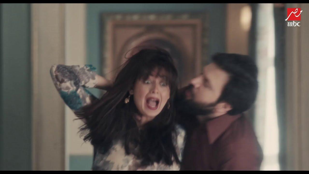 الزوج المجنون يلقي بزوجته الحامل من الدور الأول في مسلسل عائلة الحاج نعمان