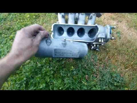 H22a cb7 skunk 2 intake manifold port and polish (coupe stroker build)
