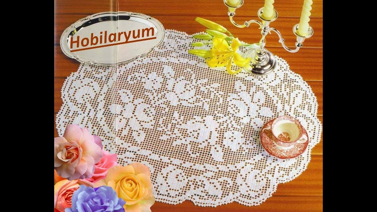 Dantel Sehpa Ortuleri Oval Modeller Crochet