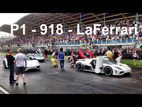 LaFerrari, P1, 918 Spyder y Agera R, en circuito