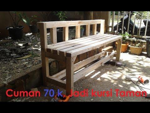 Membuat Kursi Kayu Taman hanya 75k