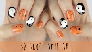 BAKE Your Own 3D Ghost Nails!
