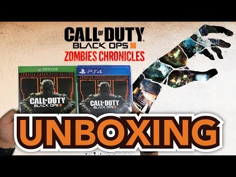 Call of Duty Black Ops III Zombies Chronicles Edition (PS4/Xbox One) Unboxing !!