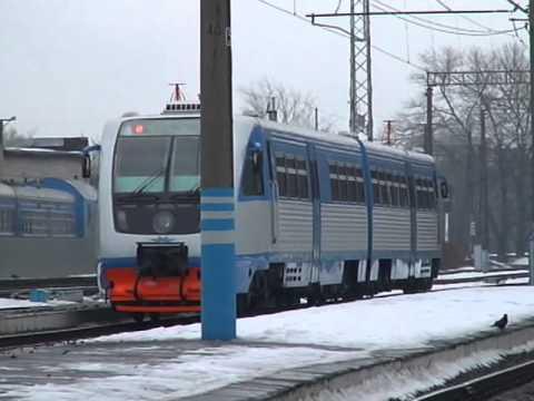 Поездка на рельсовом автобусе РА2 из Тулы в Калугу (2007 год)