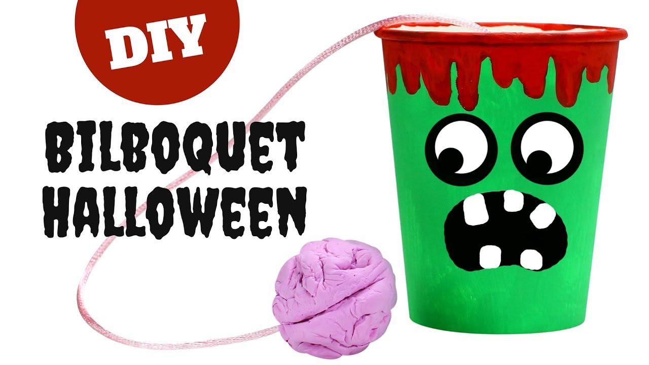 tuto diy halloween bilboquet monstre avec un gobelet. Black Bedroom Furniture Sets. Home Design Ideas