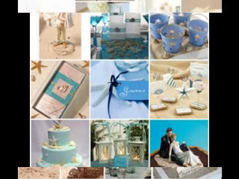 DIY Beach wedding centerpiece decorating ideas