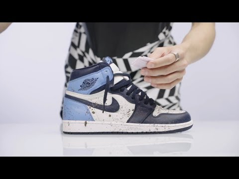 "How To Clean ""Obsidian"" Air Jordan 1 - Crep Protect Wipes"