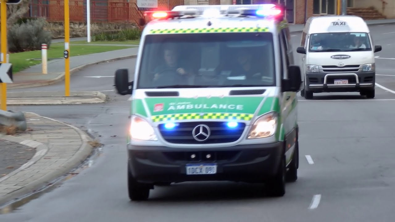 Ambulance Responding Perth Western Australia 30 July