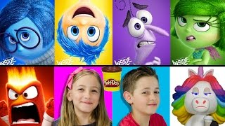 inside out mystery minis play doh challenge disney pixar funko toys play doh video пластилин plp tv