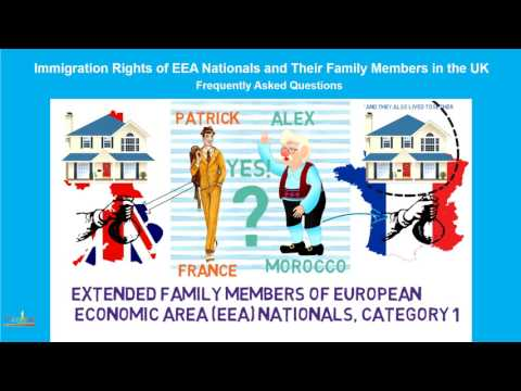 Extended family members of EEA nationals in the UK (1 of 4)