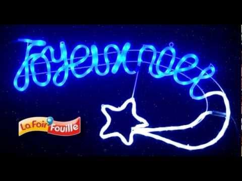 Guirlande joyeux no l youtube for Guirlande lumineuse exterieur noel
