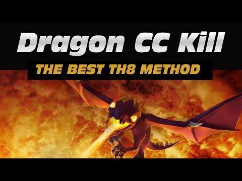 TH8: The Best Way To Kill Dragons In Clan Castle