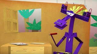 Мультфильм про оригами - Бумажки - Загадочное письмо - новая серия 30