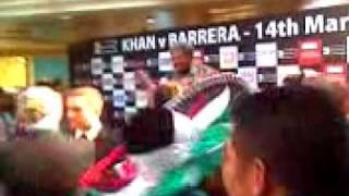 Amir Khan Marco Antonio Barrera weigh in Manchester 14 March 2009 Part 1