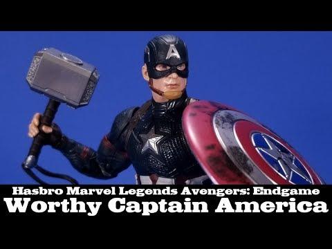 Marvel Legends Worthy Captain America Avengers Endgame Power & Glory Walmart Hasbro Review