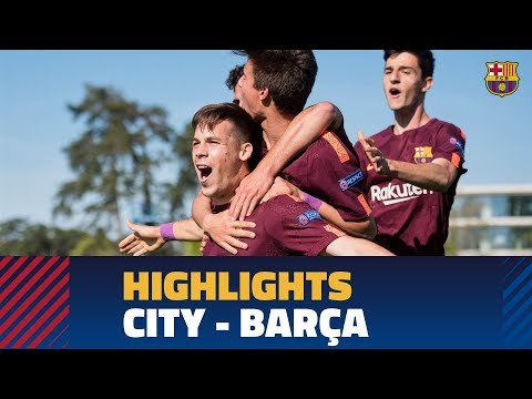 [highlights] uefa youth league: fc barcelona – manchester city (5-4)