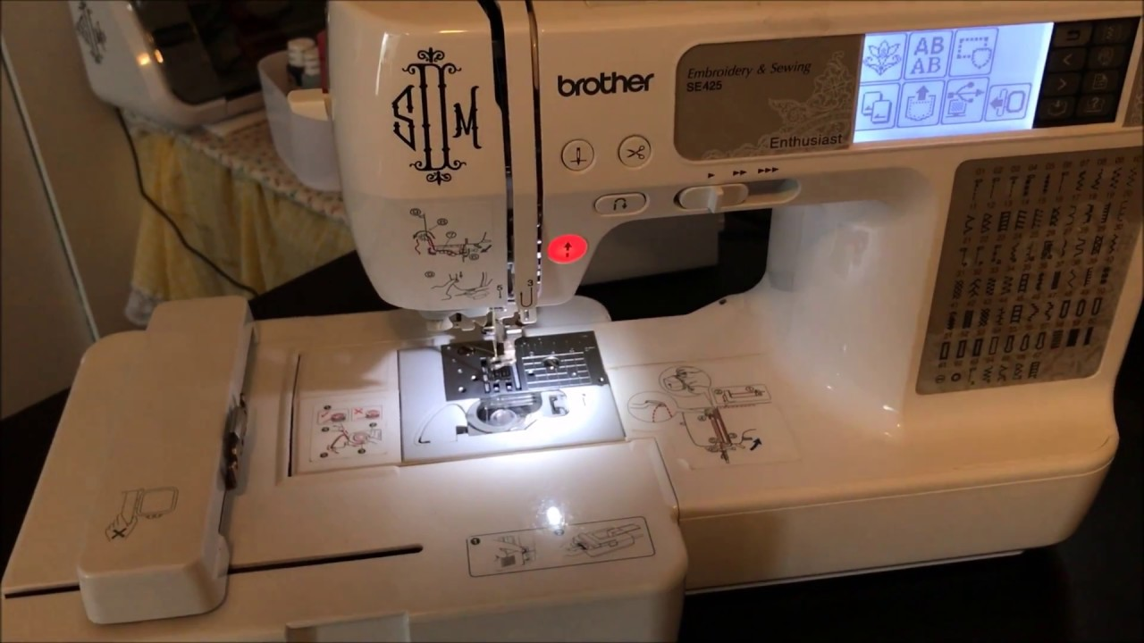 Se400 Embroidery Machine  2017  How To Switch From Sewing  Mode To Embroidery Mode