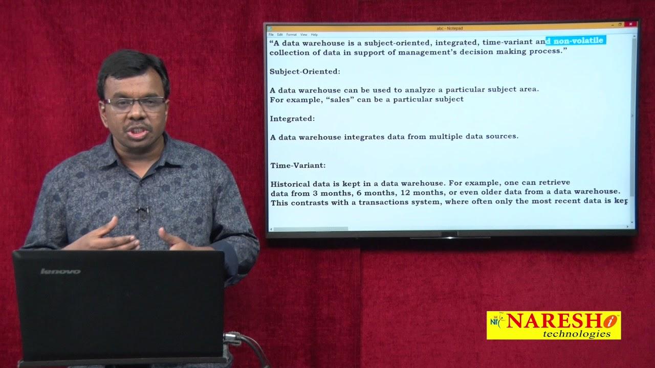 DWH Characteristics | Data Warehouse Tutorials | Data Warehousing Concepts  | Mr Vijay Kumar