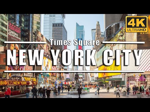 Walking Around New York City - Times Square - Manhattan - NYC 4K Ultra HD