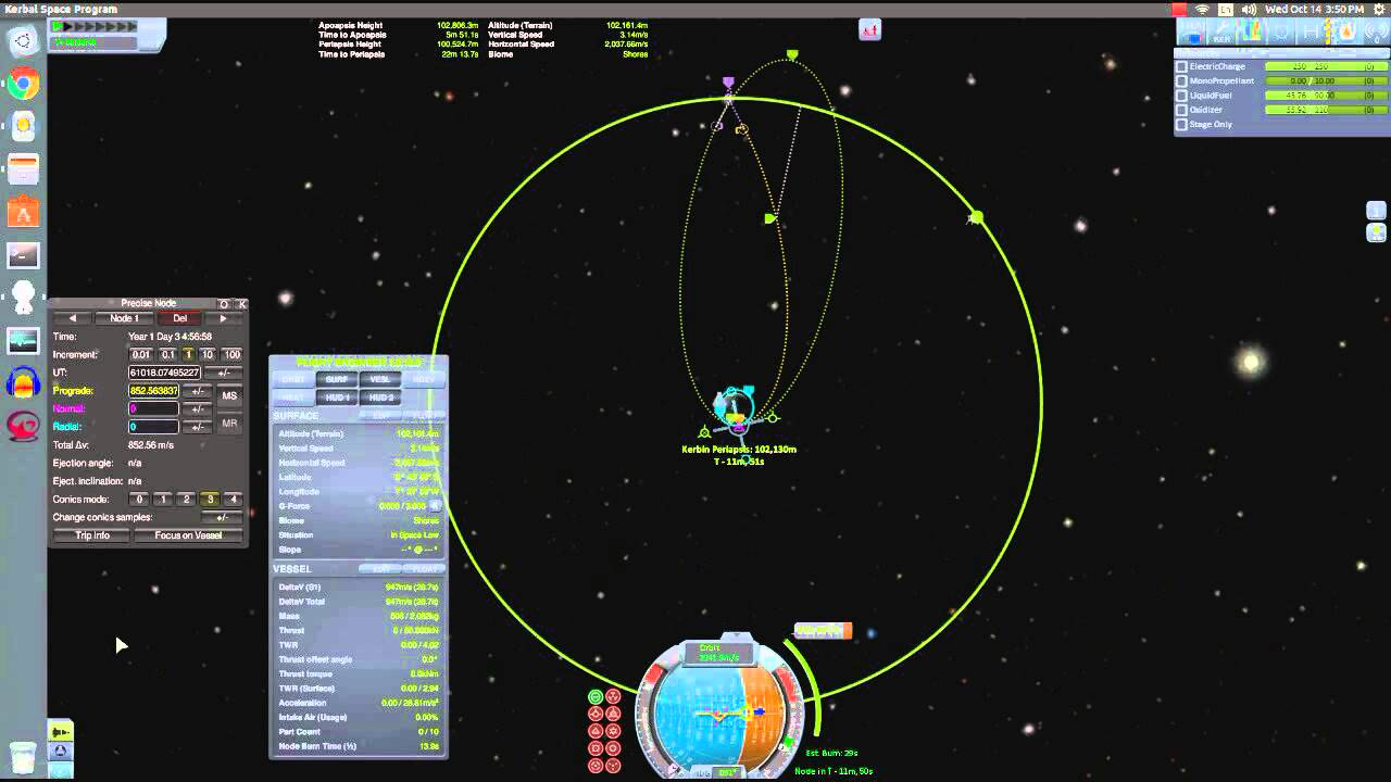 How to create a Free-Return Trajectory to the Mun in KSP