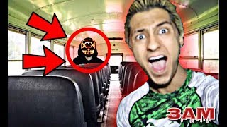 PROJECT ZORGO TRAPPED ME IN ABANDONED SCHOOL BUS AT 3AM!! *OMG SO SCARY*