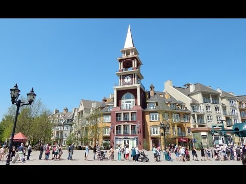 Mont Tremblant Resort Village in Quebec Canada in Summer