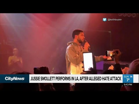 Jussie Smollett Performs In L.A. After Alleged Hate Attack