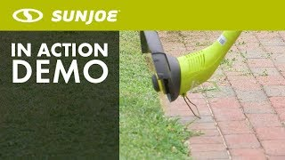 SB601E - Sun Joe 12.6-Inch Electric Stringless Trimmer/Edger - Live Demo