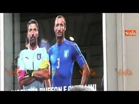 Calcio, Firenze in delirio per Buffon e Chiellini