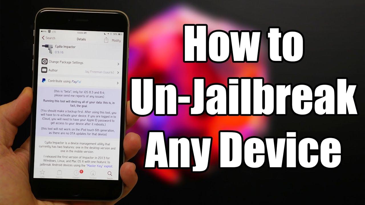 Will updating your iphone unjailbreak it