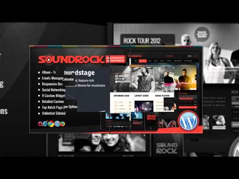 Wordpress Themes for Musicians - Great WP themes for Bands and Singers