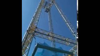 Tower fall into safety net