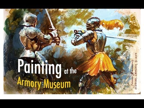 Painting at the Armory Museum