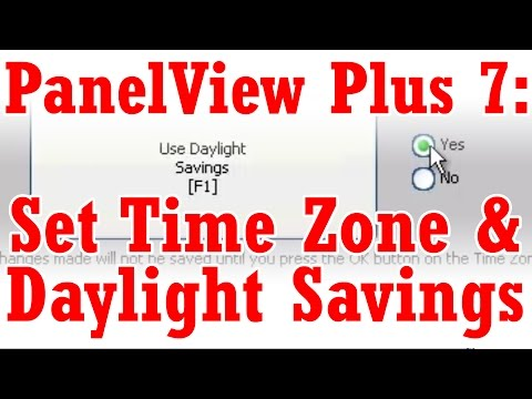 Set Daylight Savings Time and Time Zone on the PanelView Plus 7