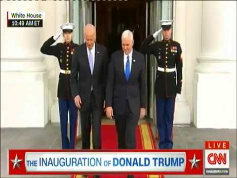 Inauguration of Donald Trump arrival of former presidents & families