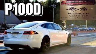 Tesla P100D Takes On Drag Car in the Racing Finals!
