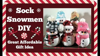Sock Snowmen Diy Great Gift Id…