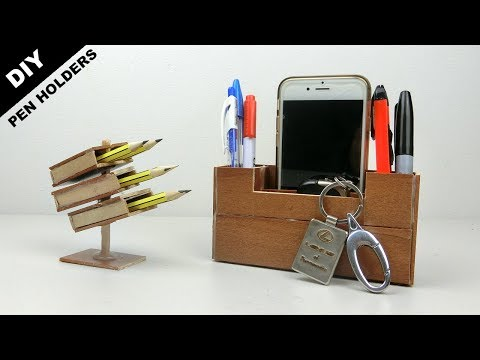 4 Easy & Quick Wooden Pen Holders You Can Make | DIY & Crafts ideas
