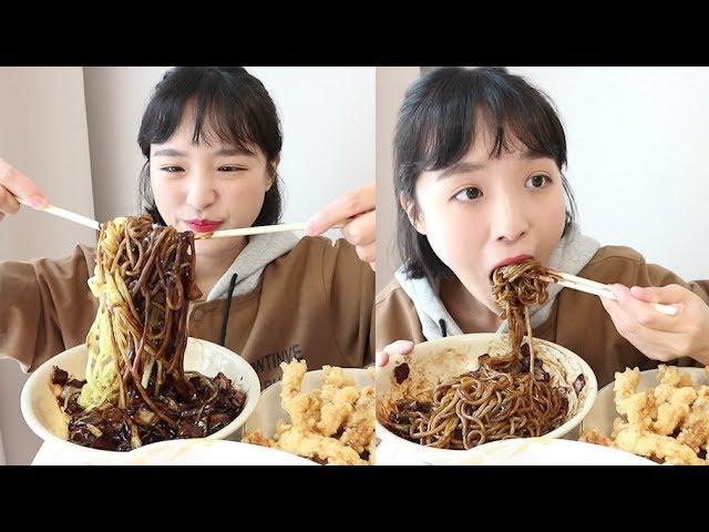 짜장면 탕수육 먹방 _ 채소요리가 짜장면으로 변하는 마법 :D