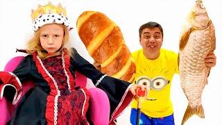 Nastya gibt vor, Prinzessin Nesmeyana zu sein, eine lustige Geschichte für Kinder